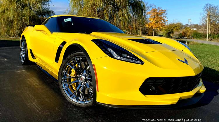 ZJ Detailing works on higher-end vehicles such as the Chevrolet Corvette (pictured here). Courtesy of Zach Jones | ZJ Detailing